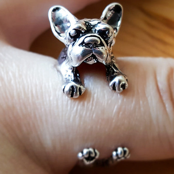 French Bulldog Ring | Animal Jewelry & Cute Gifts | Witty Novelty