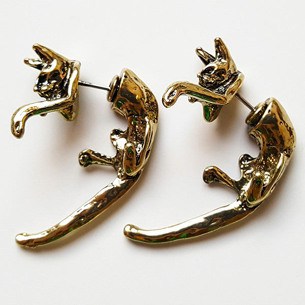 Leaping Cat Earring | Animal Jewelry & Cute Gifts | Witty Novelty