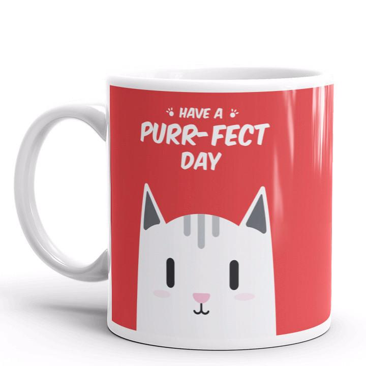 Have A Purr-Fect Day Mug | Cool Gifts & Fun Mugs | Witty Novelty