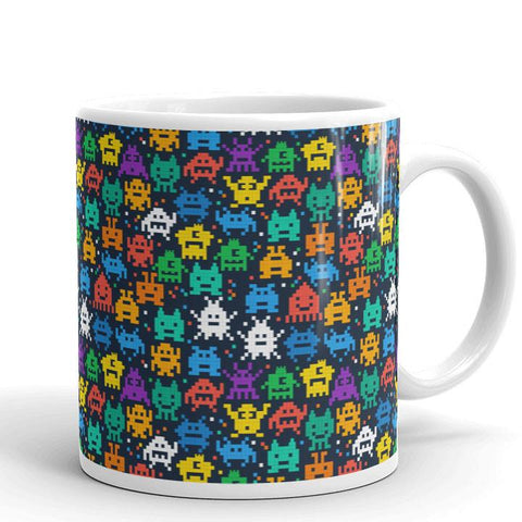 Pixel Monsters Mug | Cool Gifts & Fun Mugs | Witty Novelty