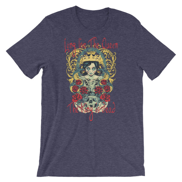 Long Live The Queen The King Is Dead Short-Sleeve Unisex T-Shirt |  | Witty Novelty