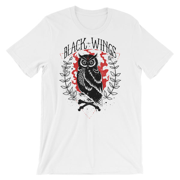 Black Wings Short-Sleeve Unisex T-Shirt |  | Witty Novelty