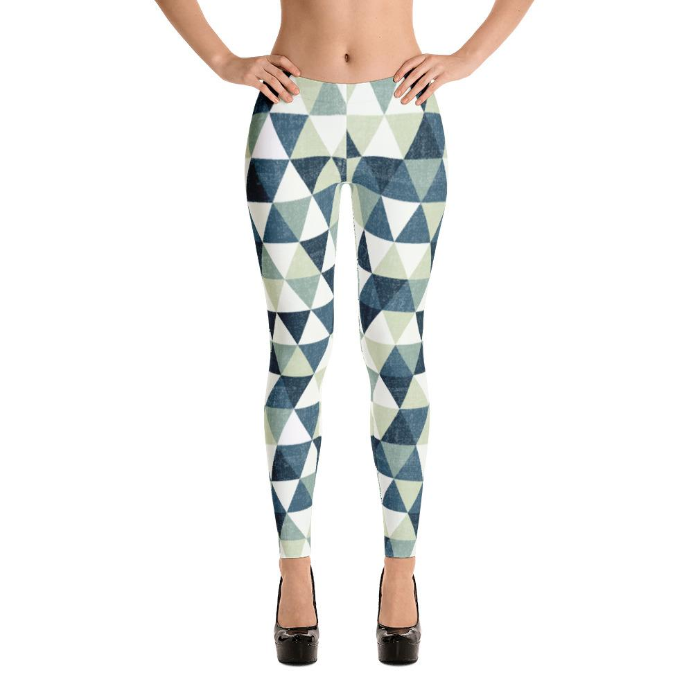 Grunge Green Triangles Leggings