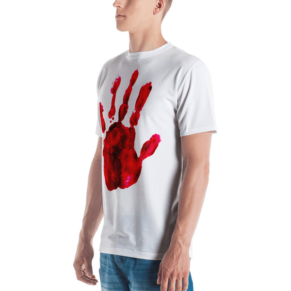Bloody Hand Horror All-Over Sublimation Men's T-Shirt |  | Witty Novelty