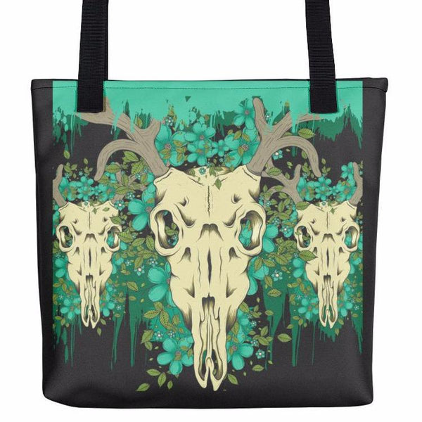 Deer Skull Tote Bag | Unique Bags & Unisex Gifts | Witty Novelty