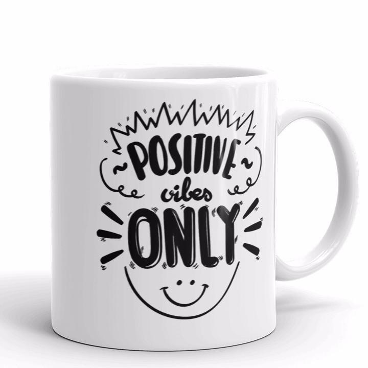 Positive Vibes Only Mug | Cool Gifts & Fun Mugs | Witty Novelty