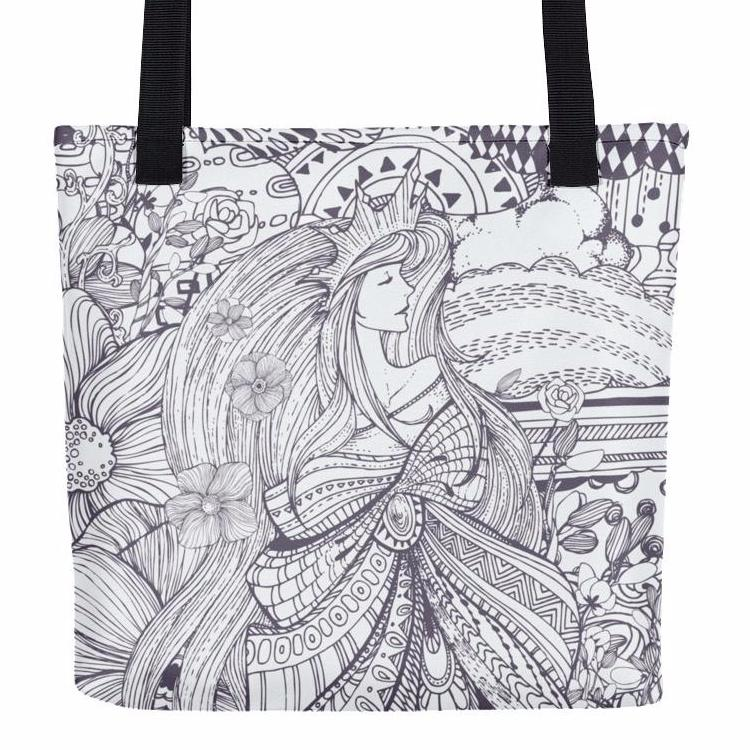 Magical Queen Doodle Tote Bag | Unique Bags & Unisex Gifts | Witty Novelty