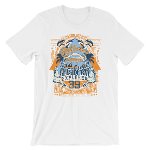 California Seaside Bay Explorer Short-Sleeve Unisex T-Shirt |  | Witty Novelty