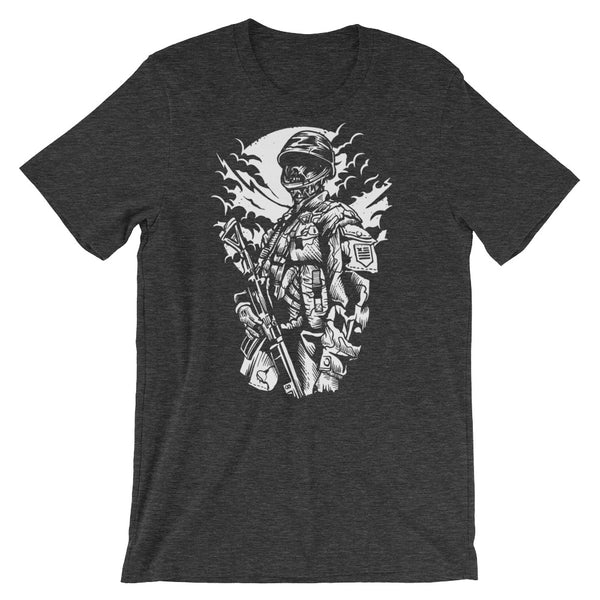 Zombie Soldier Short-Sleeve Unisex T-Shirt
