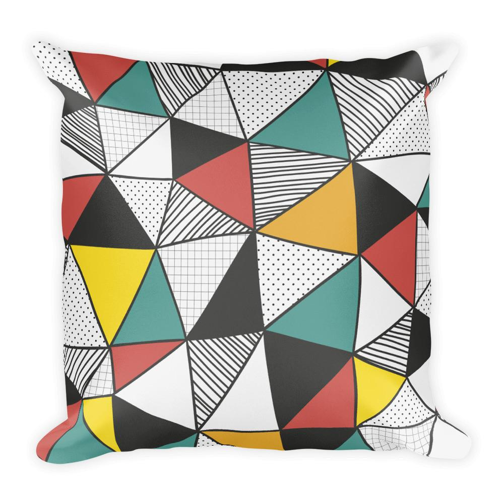 Geomania Pillow | Unique Throw Pillows | Witty Novelty