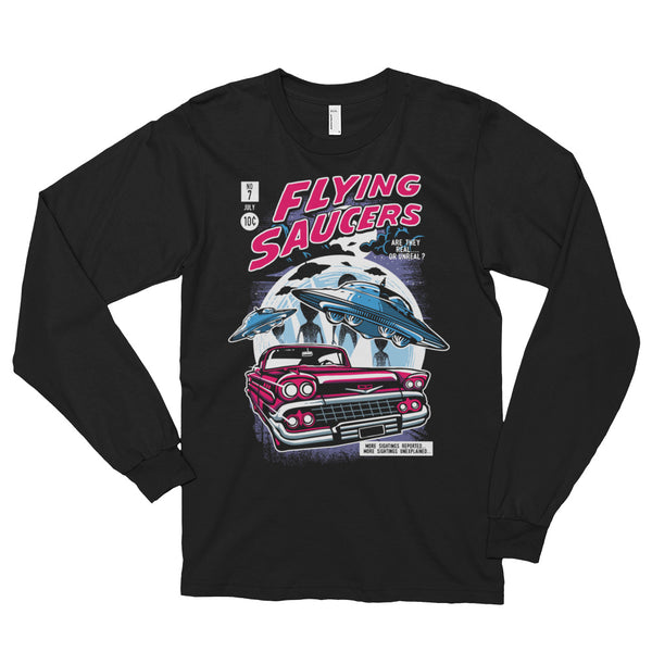 Flying Saucers Long Sleeve T-shirt (unisex) |  | Witty Novelty
