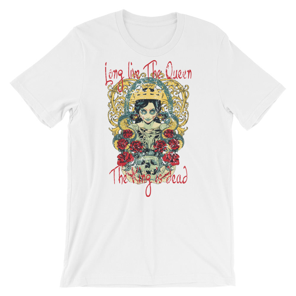Long Live The Queen The King Is Dead Short-Sleeve Unisex T-Shirt