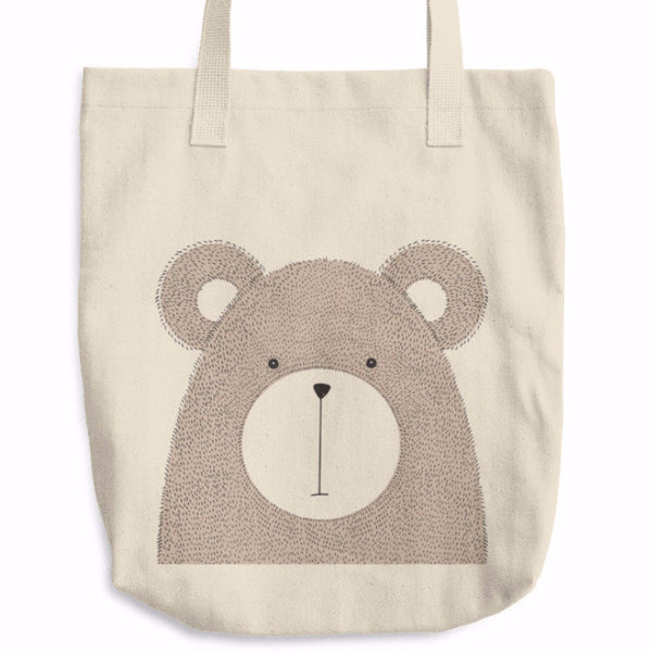 Cute Bear Cotton Tote Bag | Unique Bags & Unisex Gifts | Witty Novelty