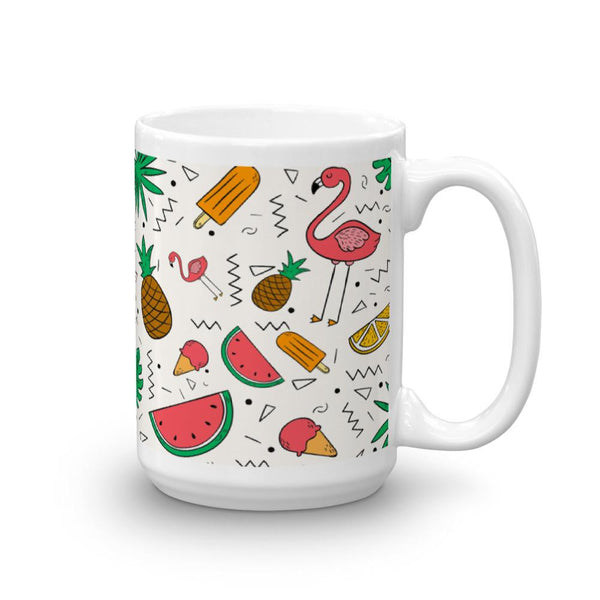 Flamingos, Pineapples and Watermelon Mug | Cool Gifts & Fun Mugs | Witty Novelty