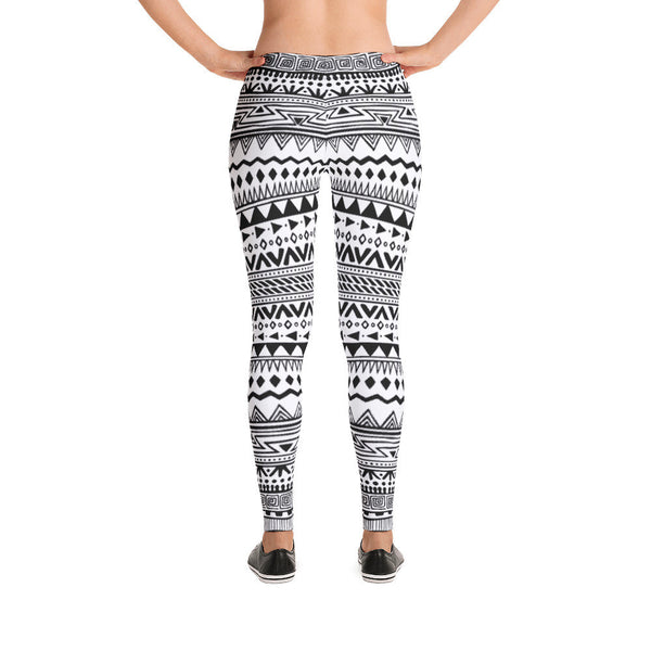 Black & White Boho Leggings | Leggings | Witty Novelty