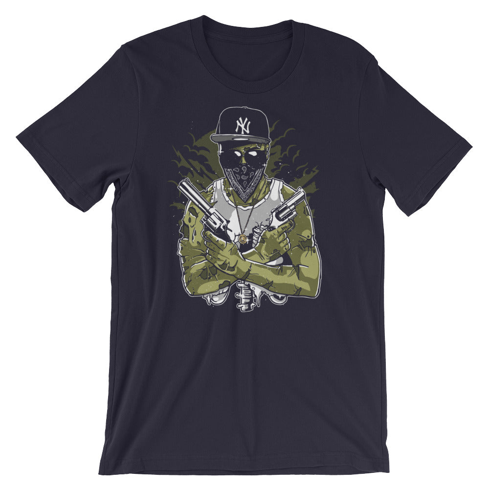 Gangsta Zombie Short-Sleeve Unisex T-Shirt |  | Witty Novelty