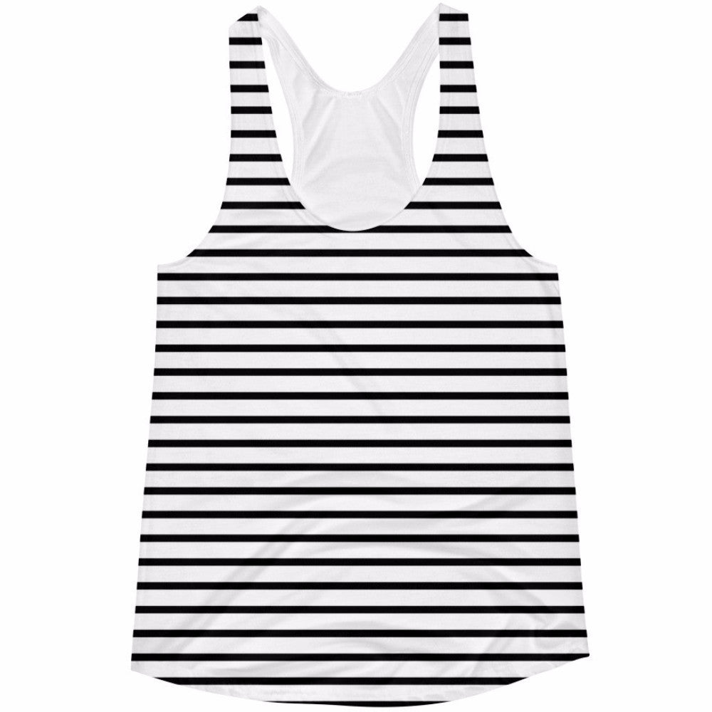 Black Striped Women's Tank Top