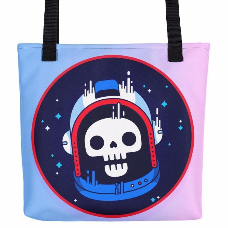 Astronaut Skull Tote Bag | Unique Bags & Unisex Gifts | Witty Novelty