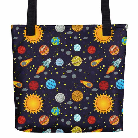 Cartoon Space Tote Bag
