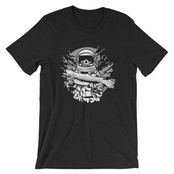 Fisher Astronaut Fishing Bass Short-Sleeve Unisex T-Shirt |  | Witty Novelty