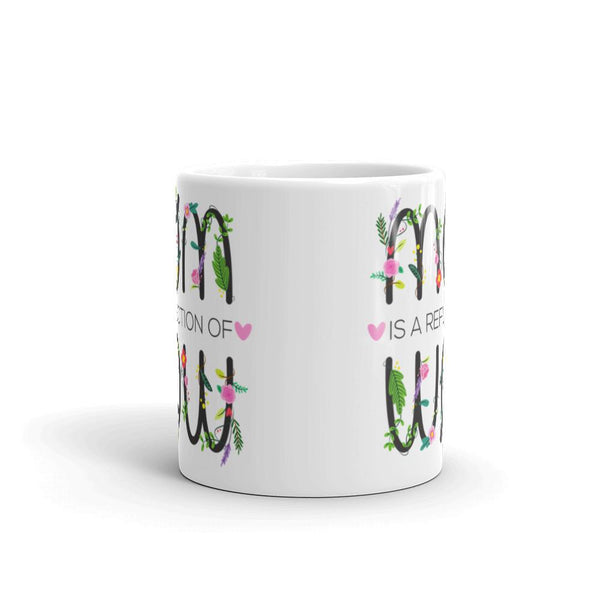 Mom Is A Reflection Of Wow Mug | Cool Gifts & Fun Mugs | Witty Novelty