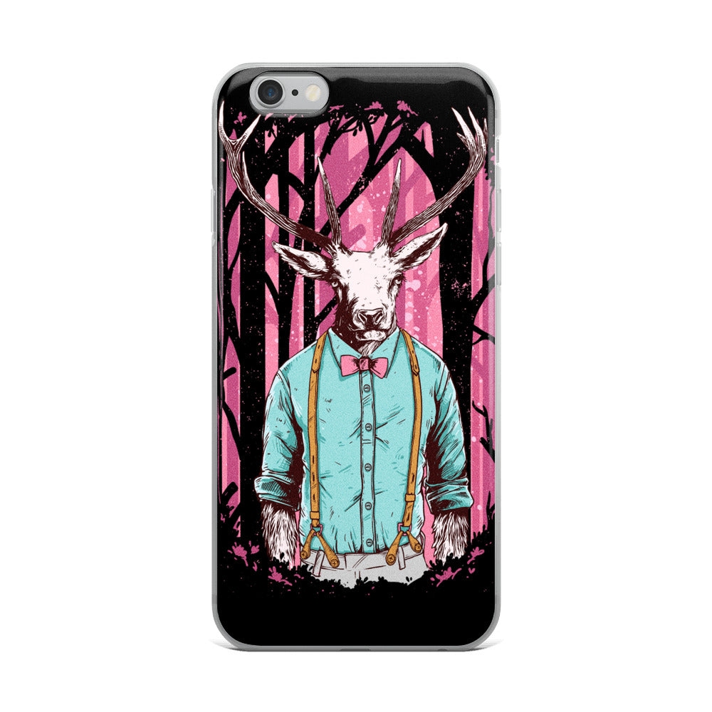 Hipster Deer iPhone Case