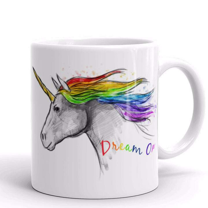 Dream On Unicorn Mug | Cool Gifts & Fun Mugs | Witty Novelty