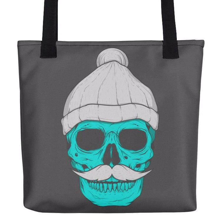 Skull With A Beanie Tote Bag