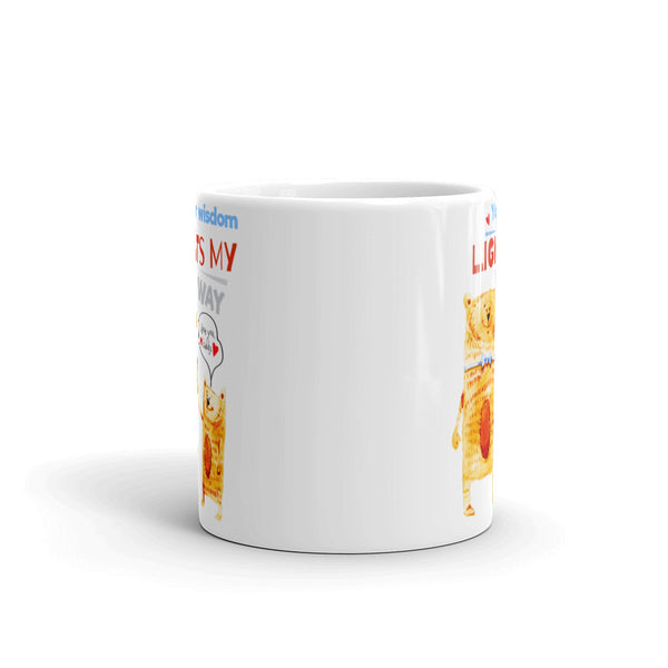 Your Wisdom Lights My Way Father's Day Mug | Cool Gifts & Fun Mugs | Witty Novelty