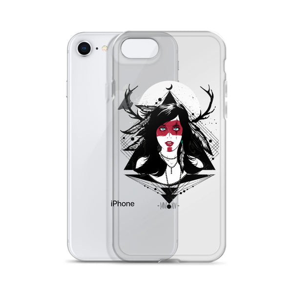Native American Warrior Girl iPhone Case