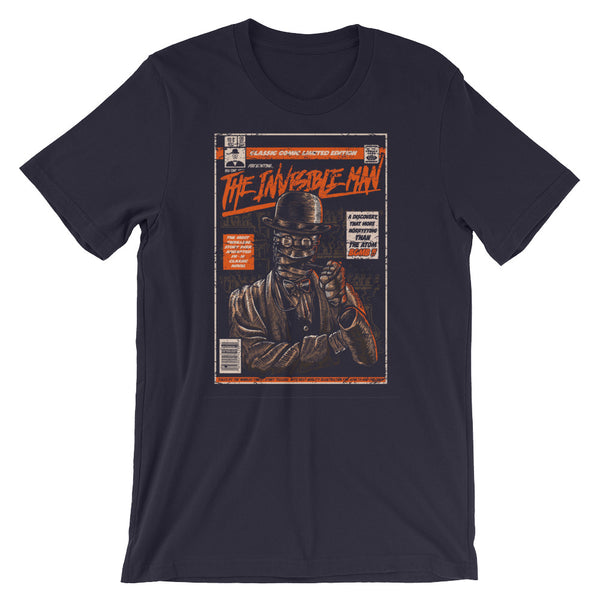 Comic Book Series: The Invisible Man Short-Sleeve Unisex T-Shirt |  | Witty Novelty