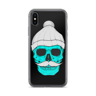 Skull With A Beanie iPhone Case