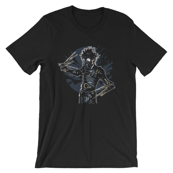 Gasmask Edward Scissor Hands Short-Sleeve Unisex T-Shirt |  | Witty Novelty