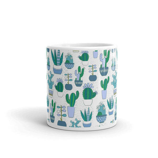Cute Cactus Pattern Mug | Cool Gifts & Fun Mugs | Witty Novelty