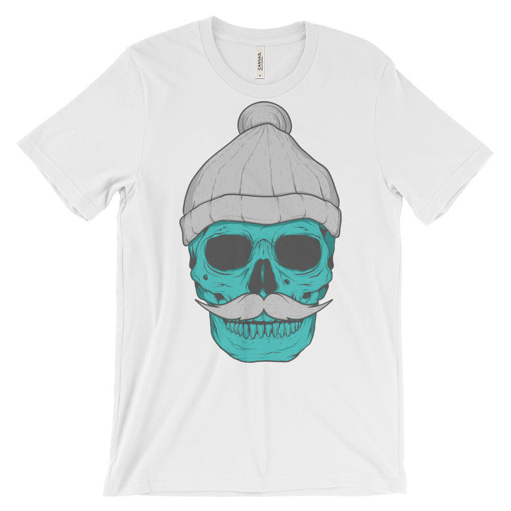 Skull With A Beanie Unisex T-Shirt | Shirts | Witty Novelty