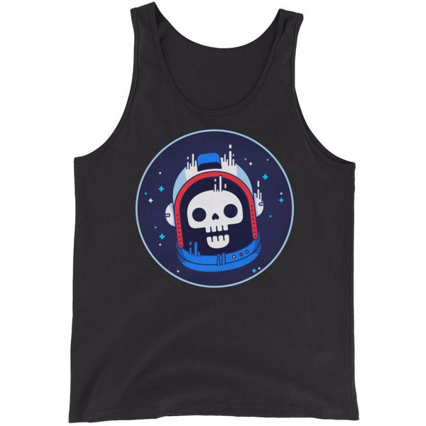 Astronaut Skull Men's Tank Top | Shirts | Witty Novelty