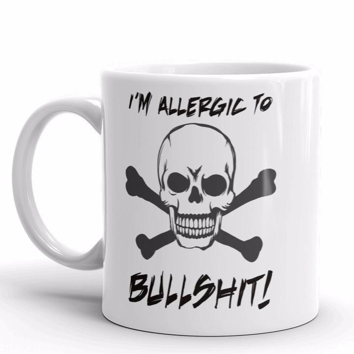 I'm Allergic To Bullshit Mug | Cool Gifts & Fun Mugs | Witty Novelty