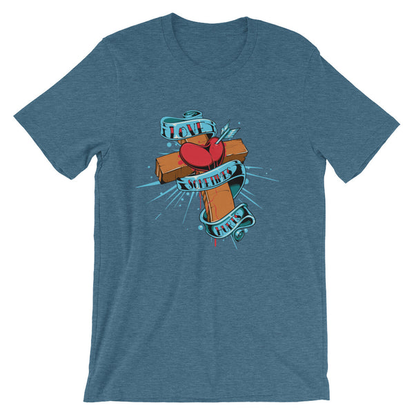 Love Sometimes Hurts Short-Sleeve Unisex T-Shirt |  | Witty Novelty