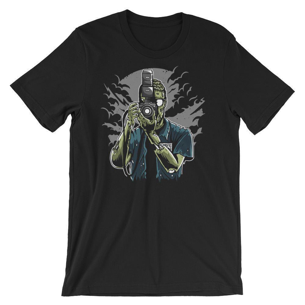 Zombie Photographer Short-Sleeve Unisex T-Shirt