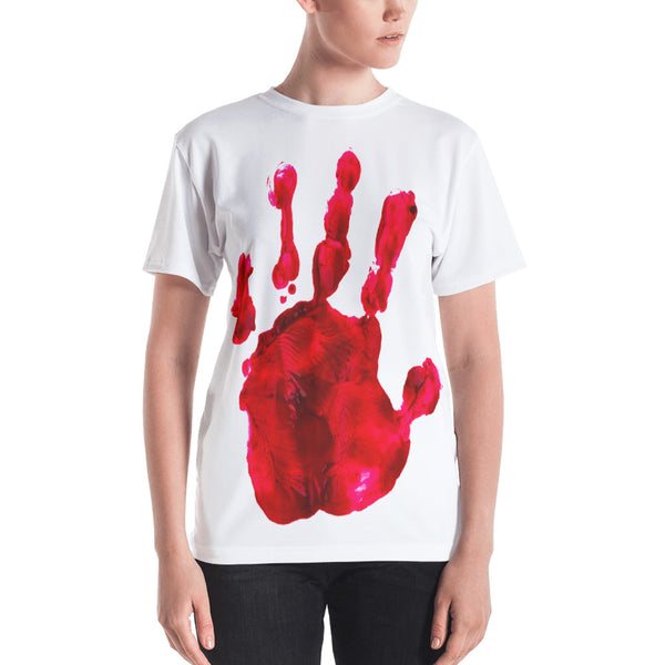 Bloody Hand Horror All-Over Sublimation Women's T-Shirt |  | Witty Novelty