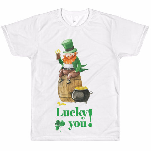 Vintage Leprechaun Crew Neck Men's T-Shirt | Shirts | Witty Novelty