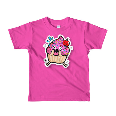 Shocked Cupcake Short sleeve kids t-shirt