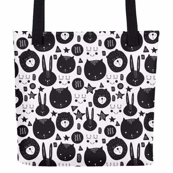 Happy Animals Doodle Tote Bag |  | Witty Novelty
