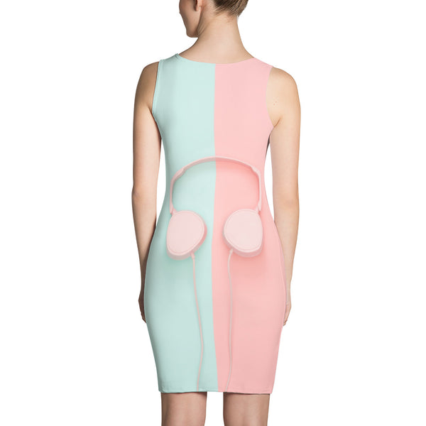 Pastel Headphones Sublimation Cut & Sew Dress |  | Witty Novelty
