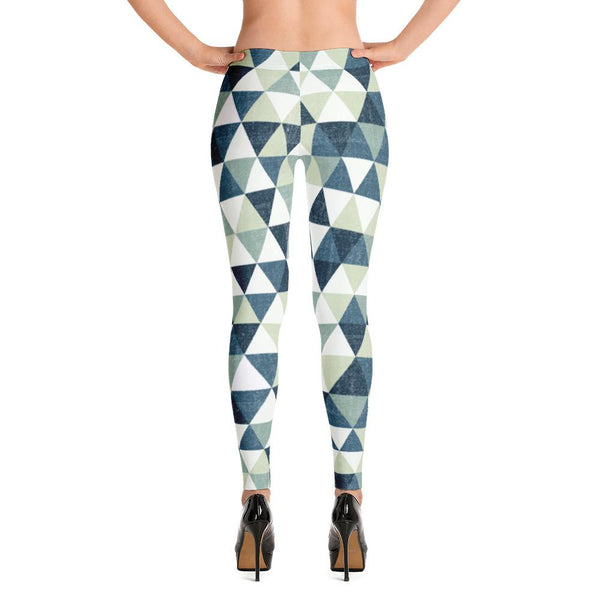 Grunge Green Triangles Leggings | Leggings | Witty Novelty