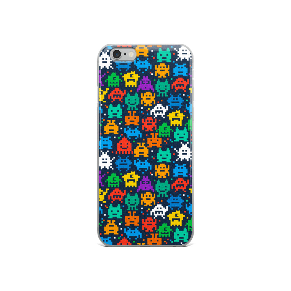 Pixel Monsters iPhone Case