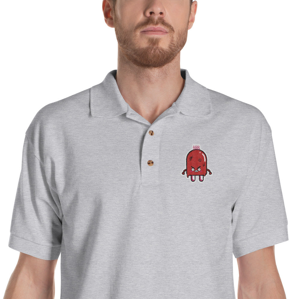 Angry Popsicle Men S Embroidered Polo Shirt Witty Novelty