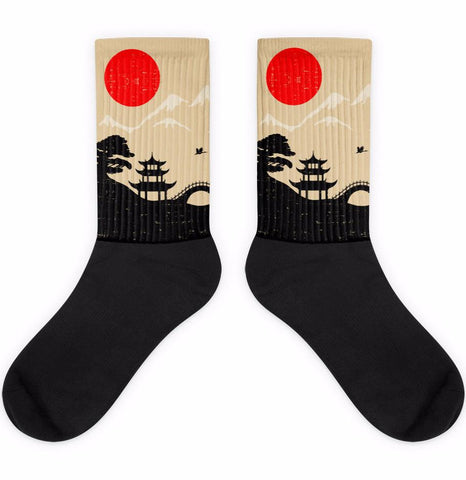 Dreaming Japan Black Foot Socks | Socks | Witty Novelty