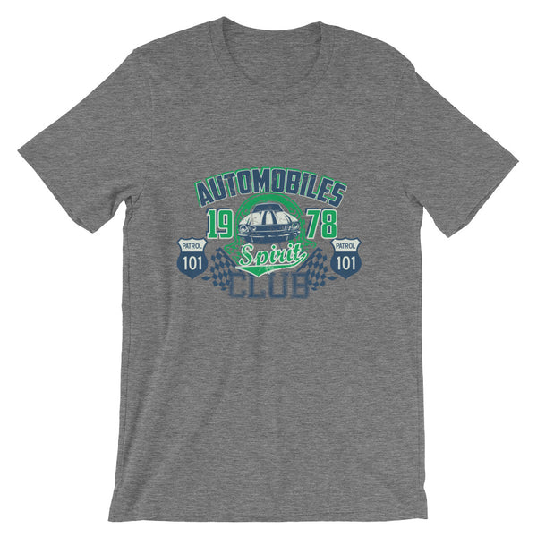 Automobiles Club Short-Sleeve Unisex T-Shirt |  | Witty Novelty