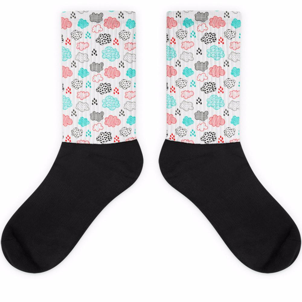 Rainy Day Black Foot Socks | Socks | Witty Novelty